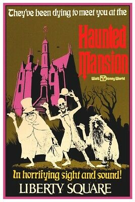 Disney World Haunted Mansion - Collector Poster (B2G1 Free!!)