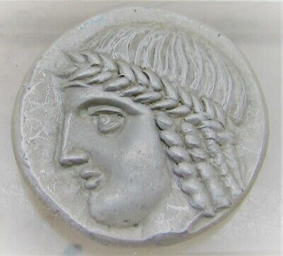 Coins: Ancient Unresearched Ancient Greek Ar Silver Tetradrachm Coin Weight 16.64