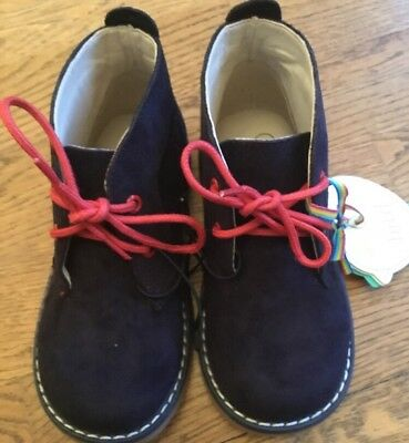 Mothercare Little Bird By Jools Oliver Boys / Girls Blue Boots Size 12 Bnwt