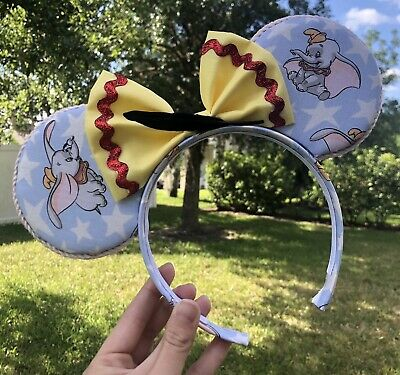Walt Disney World Disneyland Dumbo Mickey Minnie Ears Headband