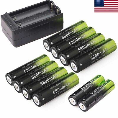 10pcs SKYWOLFEYE 18650 Battery 5800mah 3.7v Li-ion Rechargeable Batteries