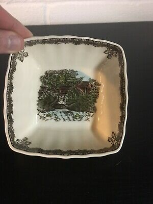 Vintage Friendly Village Johnson Brothers Square Dish Bowl Lorne  Candy England