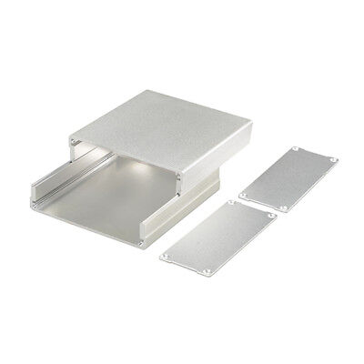 Silver Aluminum Box Enclosure Project electronic Case DIY 100*97*40MM(L*W*H)