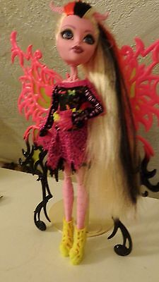 "Monster High Doll Mattel Freaky Fusion Hybrids Bonita Femur with winds 11"" tall"