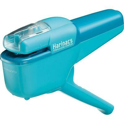 Kokuyo Harinacs Japanese Stapleless Stapler Light Blue Japan free ship