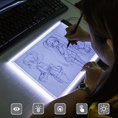 F55E Mini Durable Artcraft A5 Tracing Board Drawing Tablet LED Painting Panel
