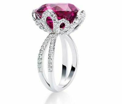 Rose Red Huge 5CT Sapphire 925 Silver Jewelry Wedding&Engagement Ring Size 6-10