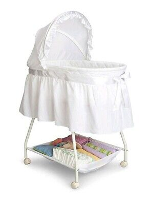 Portable Baby Bassinet Newborn Cradle Crib Moses Basket Infant Nursery White