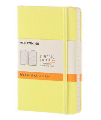 "Moleskine Classic Pocket Notebook Ruled Citron Yellow Hard Cover 3.5"" X 5.5"""