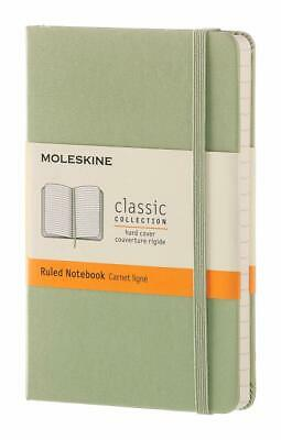 """Moleskine Classic Pocket Notebook Ruled Willow Green Hard Cover 3.5"""" X 5.5"""""""