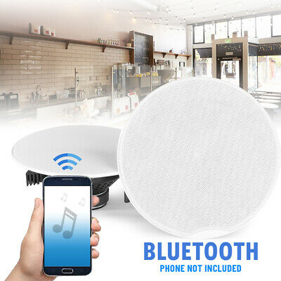 Bluetooth Ceiling Speakers with Digital Amplifier 100V 8 Ohm Home Shop Audio