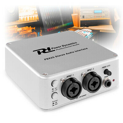 PD-X25 USB Audio Interface RCA XLR Jack DJ DI Box Recording & Audacity Software