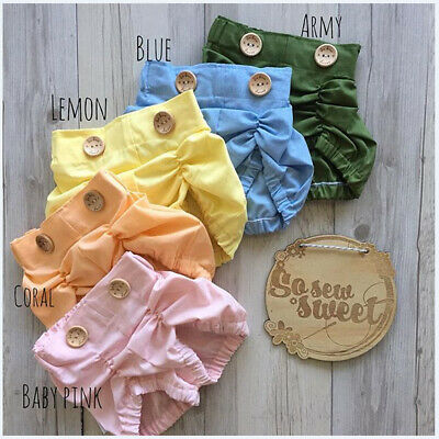 AU Infant Baby Girl Boy Cotton Shorts PP Pants Nappy Diaper Covers Bloomers