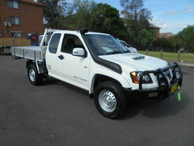 2010 Holden Colorado RC MY10 LX (4x4) White Manual 5sp M Space Cab Chassis