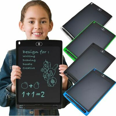"""UK 12"""" LCD Writing Pad eWriter Board Kids Painting Drawing Tablet Message Doodle"""