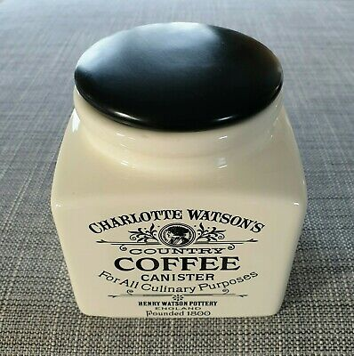 Charlotte Watson's *Country* Coffee Canister/Wooden Lid #Excellent Condition#