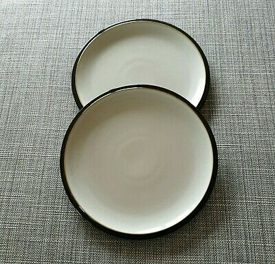 """Denby Everyday *Black Pepper* Two  9""""  Salad/Luncheon  Plates  #Very Good Used#"""