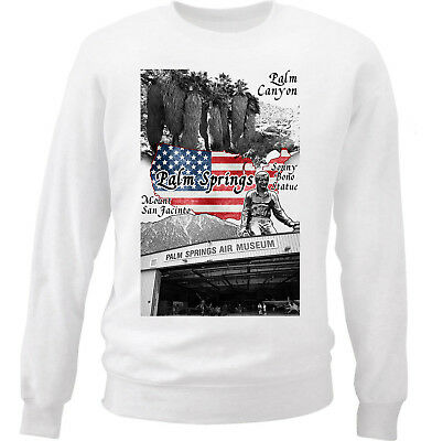California Casual Pullover Jumper Details about  /Wellcoda Palm Springs Mens Sweatshirt