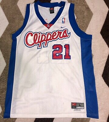 6c96d22a354 Vintage Nike Darius Miles #21 Los Angeles Clippers Sewn NBA Basketball  Jersey LG