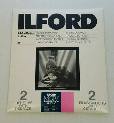 New Ilford MGIV Multigrade B&W Glossy Photographic Paper 8 x 10in (25 Sheets)