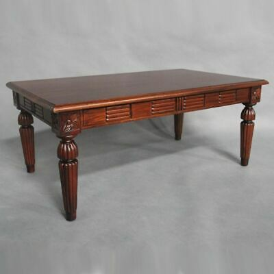 Solid Mahogany Wood Victorian Style Coffee Table Antique Reproduction