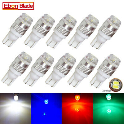 10Pcs T10 2SMD 5630 Car LED Wedge Light Plate License W5W 194 168 Bulb 12V DC