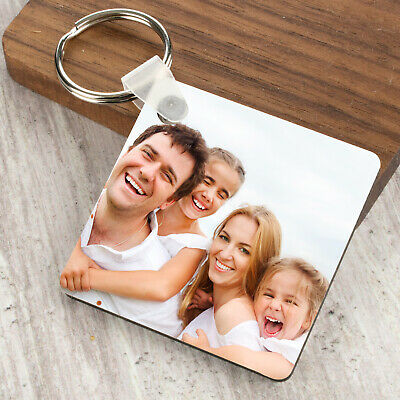 Personalised Photo Keyring Any Picture Custom Keychain Double-Single Side Print