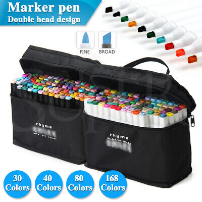 30/40/80 Colors Markers Pen Set Dual Head Artist Five Sketch Pens kit Two Point