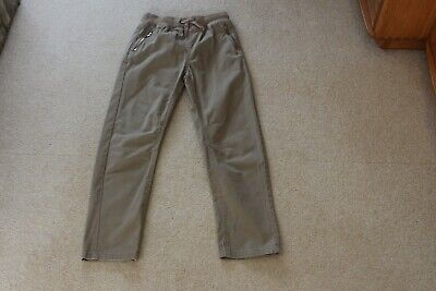 Dudes Age 10 years Beige Trousers Elastic Waist leg 24.5 in leg Excellent cond