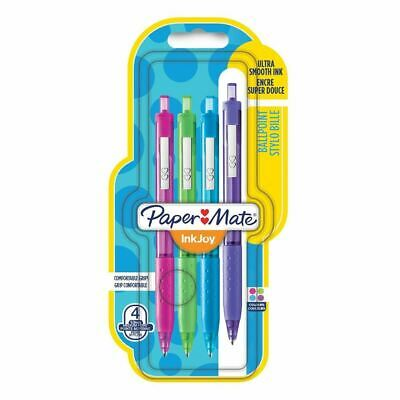 Paper Mate Inkjoy 300RT Retractable Ballpoint Pen Medium Fun Colours - Pack of 4