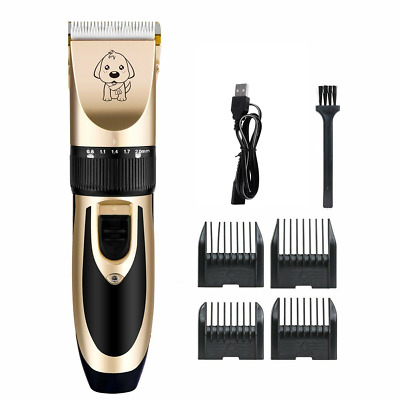 Low Noise Cordless Electric Pet Dog Cat Clipper Hair Grooming Trimming Shave Kit