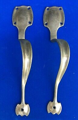 Pair Of Antique Arts & Crafts Art Nouveau Bronze Door Handles By Wr Leggott