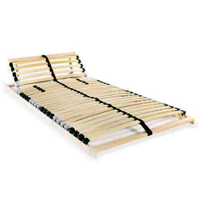 Small Double Size Slatted Bed Base 28 Slats Headboard Bedroom Wood Furniture NEW
