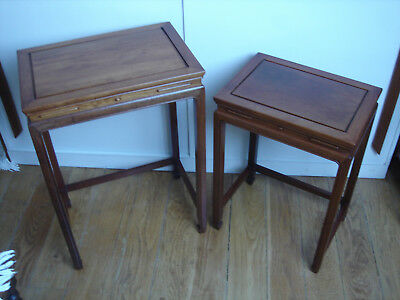 Vintage pair of Chinese Rosewood nesting Tables