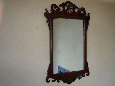 Geo III Mahogany framed Wall Mirror