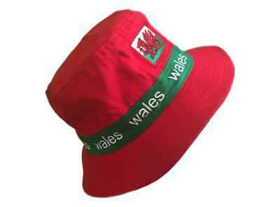 e675f4f3f80e3 RED WELSH BUCKET HAT Fishing, Summer, Wales, Cymru, Dragon, Red ...
