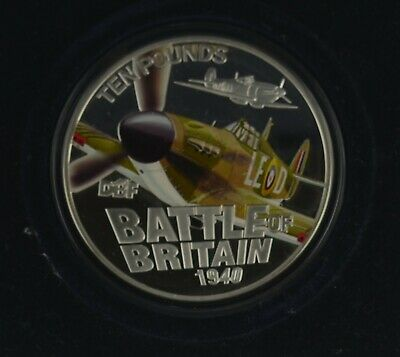 2010 GUERNSEY PROOF 70th ANNIVERSARY BATTLE OF BRITAIN 5 Oz £10 SILVER COIN