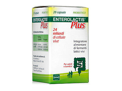 Enterolactis - Integratore biologico fermenti lattici - Plus - 20 capsule