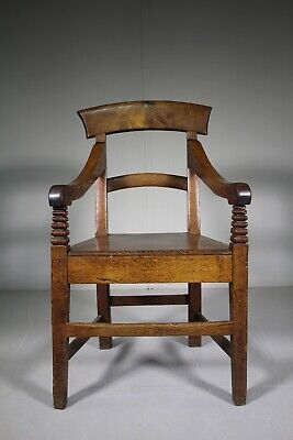 Georgian Welsh Antique Oak Country Armchair