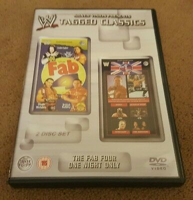 WWE Tagged Classics Fab Four 4 And One Night Only Region 2 WWF RARE