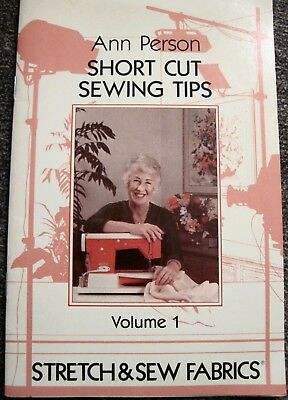 "Vintage 1981 ""Ann Person Short Cut Sewing Tips"" Vol.1 Stretch & Sew Fabric"