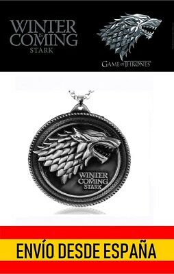 Collar Juego de Tronos Stark Lobo Game of Thrones  Stark Winter is Coming