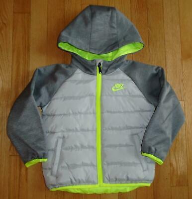 8c61d496a Nike Baby Boys Winter Jacket Lightweight Warmth Hoodie Coat Gray Toddler 4  4T