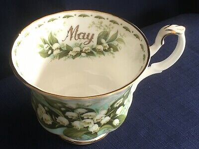 Royal Albert Flowers Of The Month May  tea cup (second- tiny rim bump)
