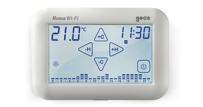 Geca 33202565 Roma Wi-Fi Cronotermostato Touch Screen Bianco