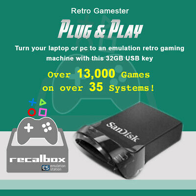RECALBOX/RETROPIE/LAKKA GAMING DEVICE For Raspberry Pi 3B+ Retro HD