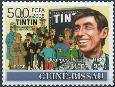 GUINEE-BISSAU 2008 ** MNH HERGE Tintin Kuifje comics bédé cartoon strip