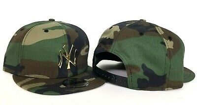 big sale 23c42 959d0 New Era New York Yankees Army Camouflage Gold Metal Logo Snapback hat
