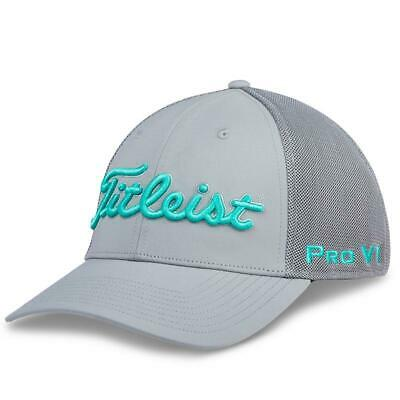 Titleist Tour Sports Mesh Men's Golf Hat NEW Grey Teal Fitted