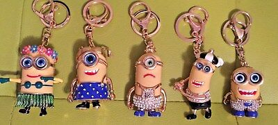 Fun Novelty Minion Keyring Despicable Me Keychain Jorge Dave Kevin Keyring